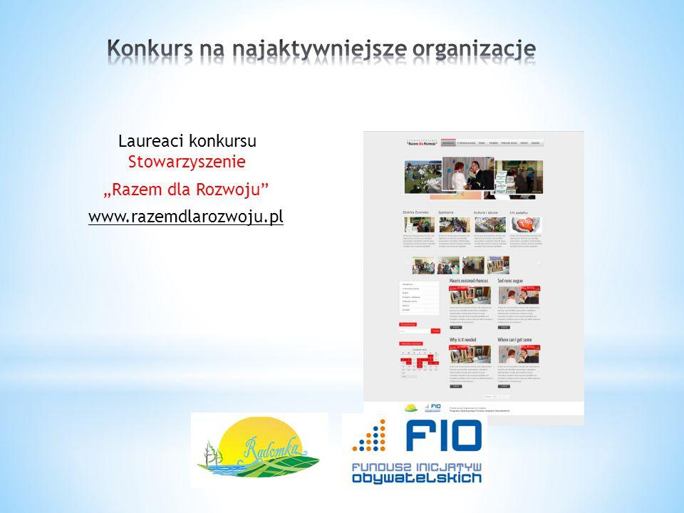 Konkurs na najaktywniejsze organizacje