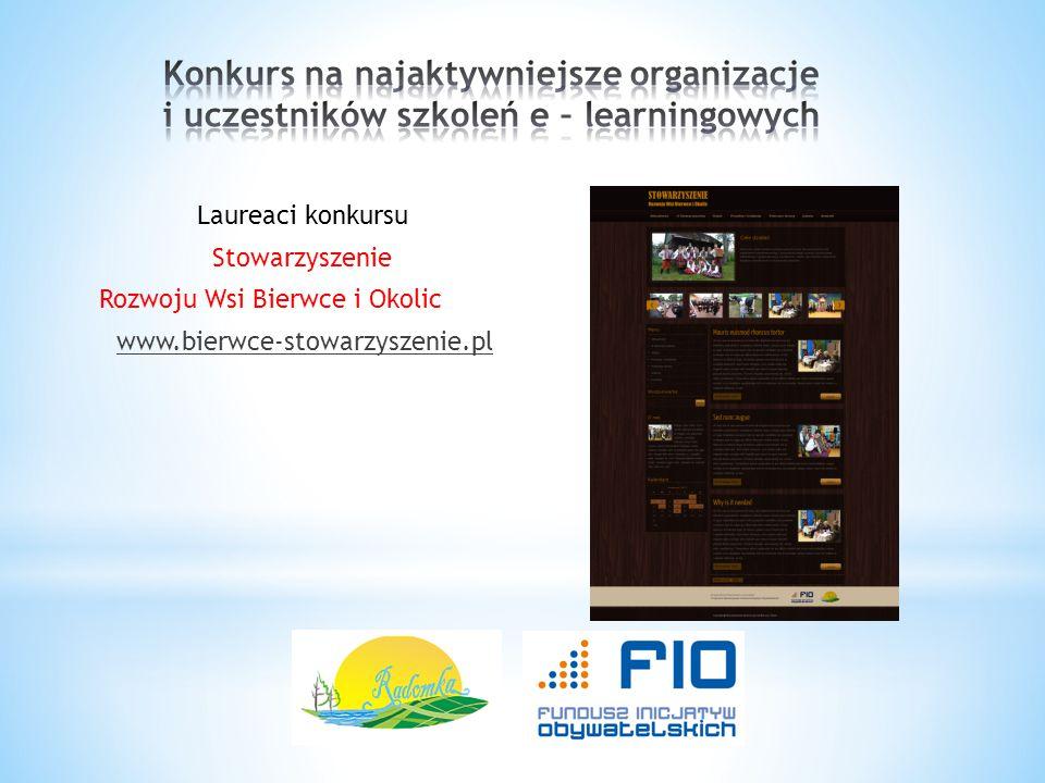 Konkurs na najaktywniejsze organizacje i uczestników szkoleń e – learningowych