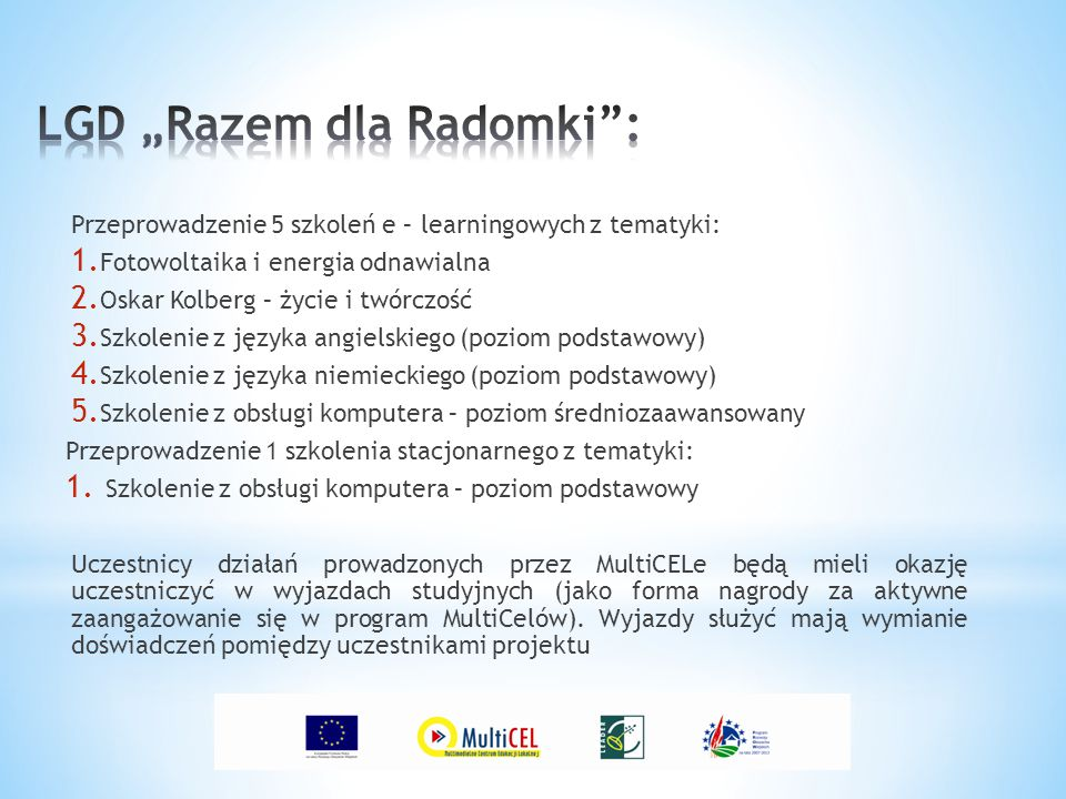 "LGD ""Razem dla Radomki :"