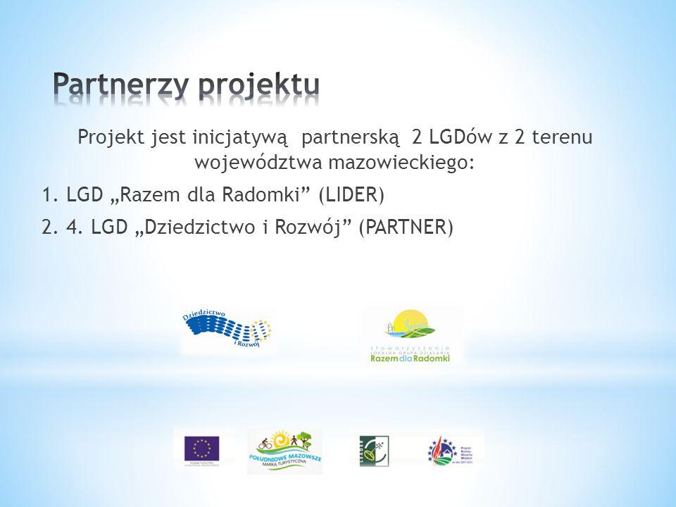 Partnerzy projektu Projekt jest inicjatywą partnerską 2 LGDów z 2 terenu województwa mazowieckiego: