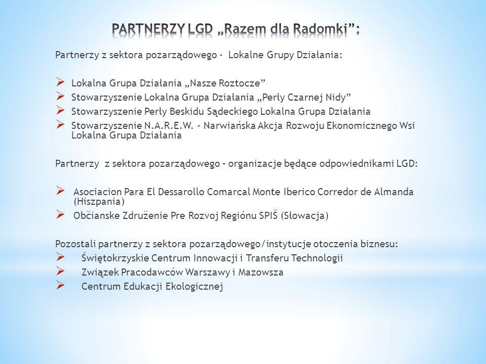"""PARTNERZY LGD """"Razem dla Radomki :"""