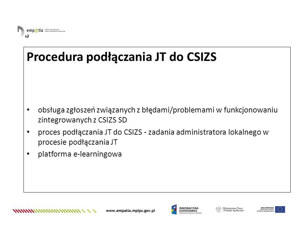 Procedura podłączania JT do CSIZS