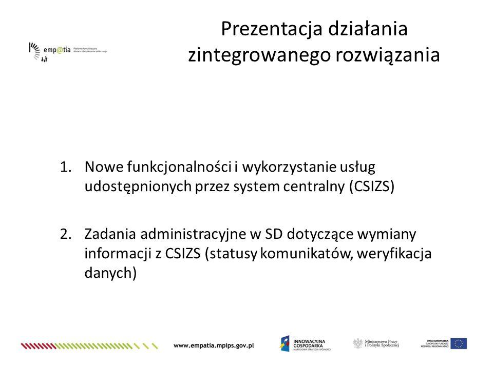 Prezentacja działania zintegrowanego rozwiązania
