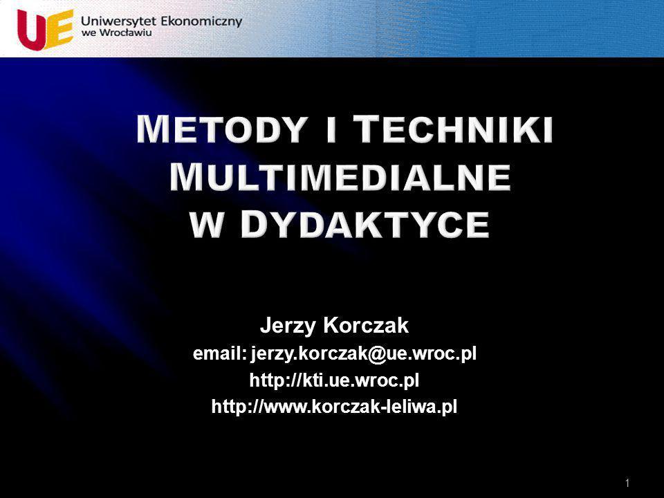 METODY I TECHNIKI multimediaLNE W DYDAKTYCE