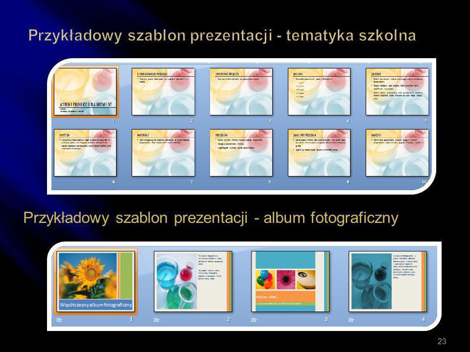 Przykładowy szablon prezentacji - tematyka szkolna