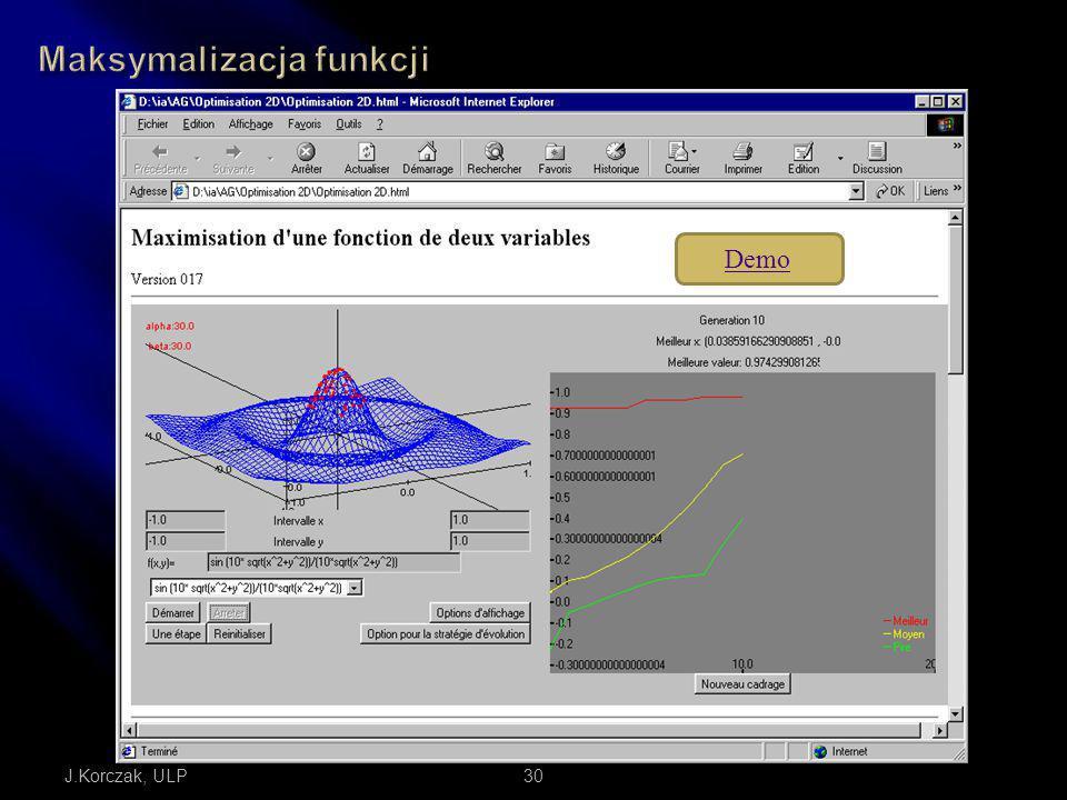 Maksymalizacja funkcji
