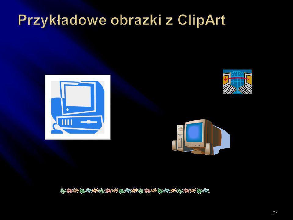 Przykładowe obrazki z ClipArt