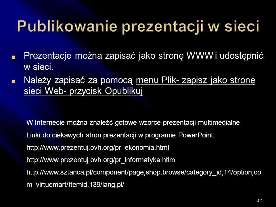 Publikowanie prezentacji w sieci