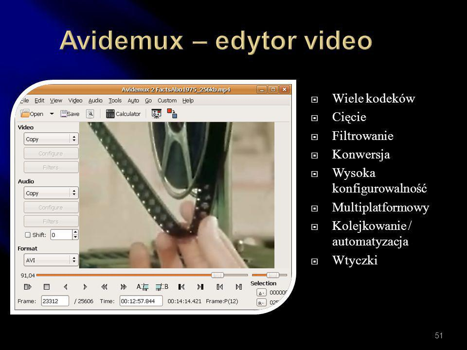 Avidemux – edytor video