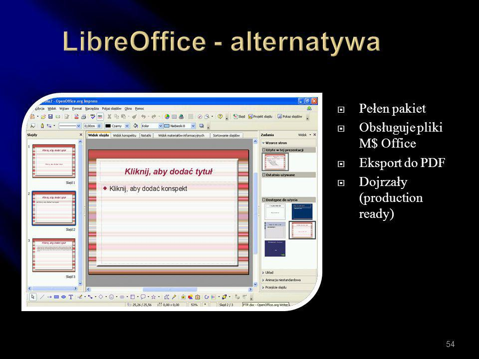 LibreOffice - alternatywa