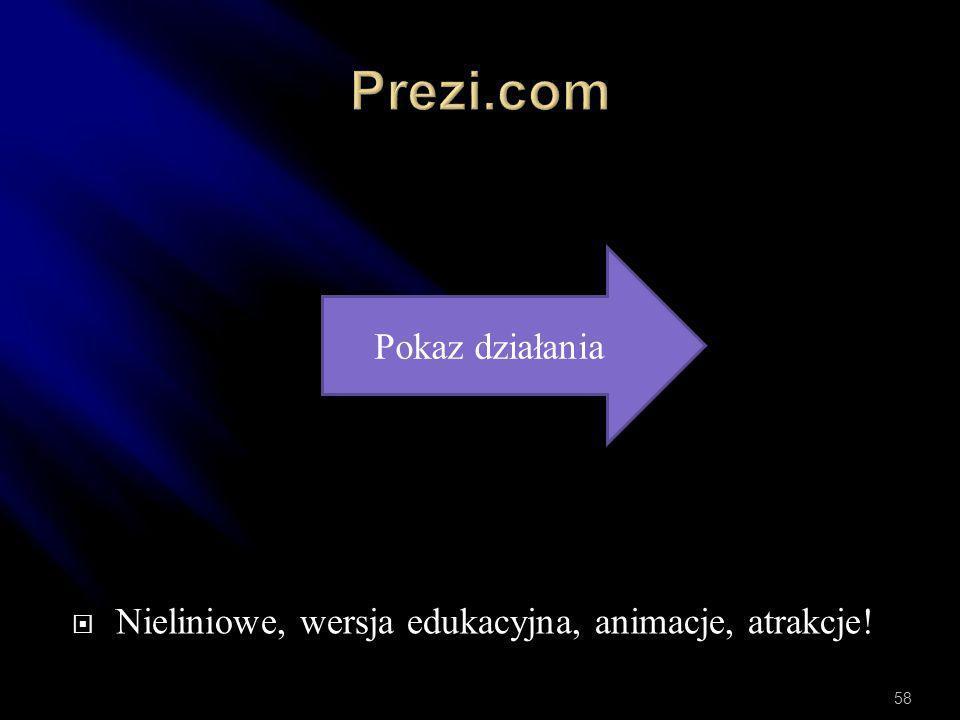 Prezi.com Pokaz działania