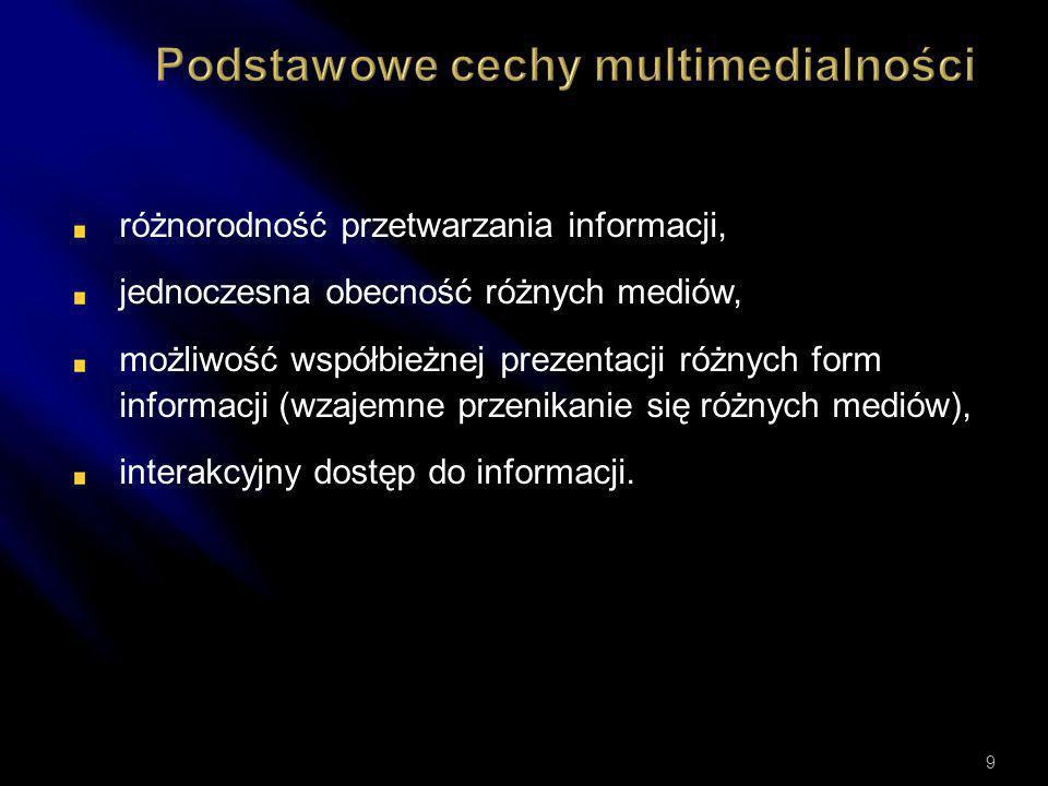 Podstawowe cechy multimedialności