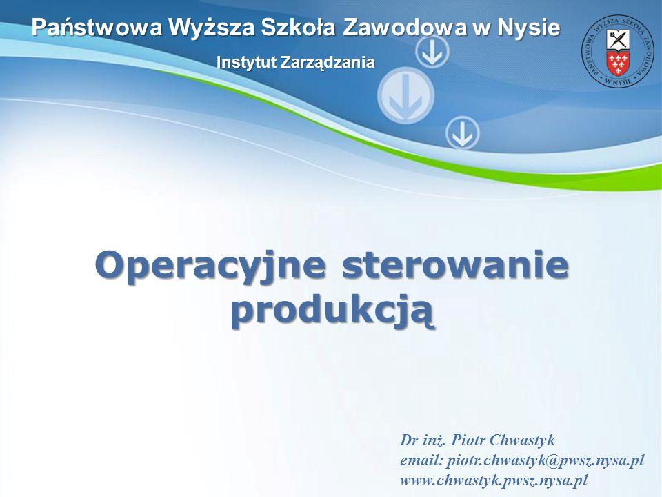 Operacyjne sterowanie produkcją