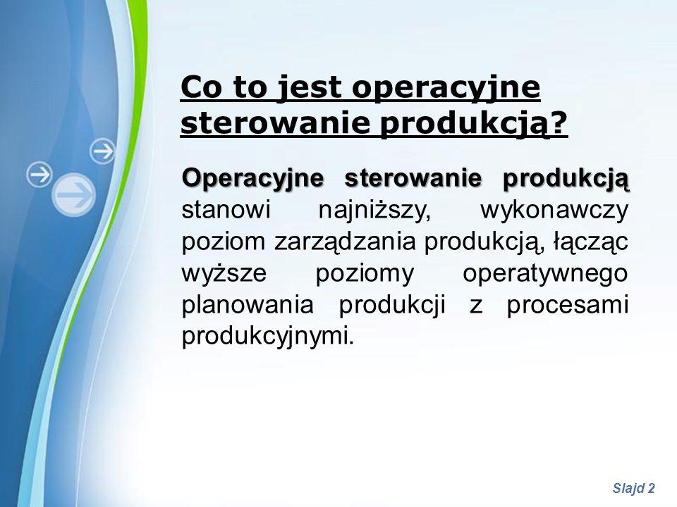 Co to jest operacyjne sterowanie produkcją