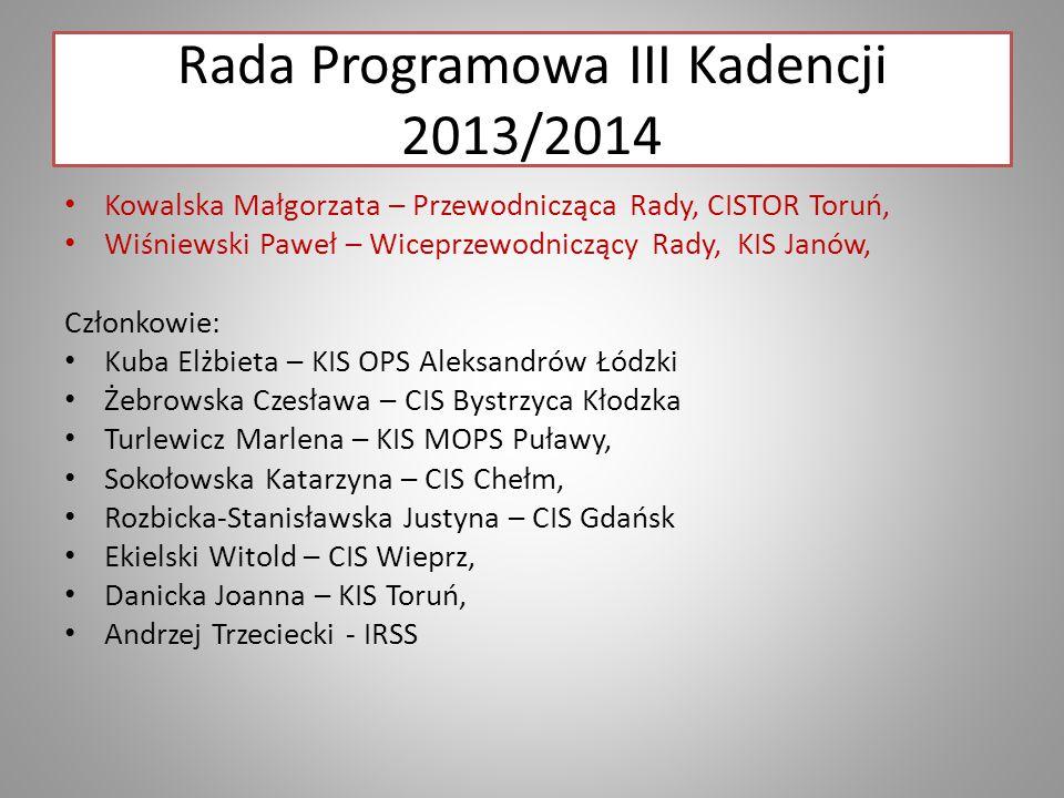 Rada Programowa III Kadencji 2013/2014