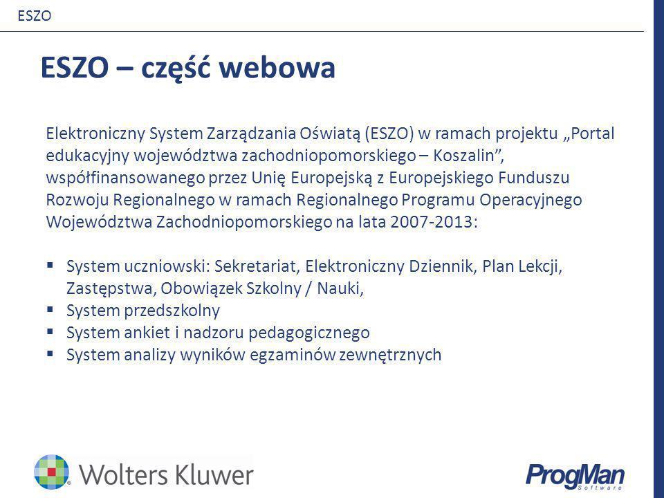 iDziennik ESZO. ESZO – część webowa.