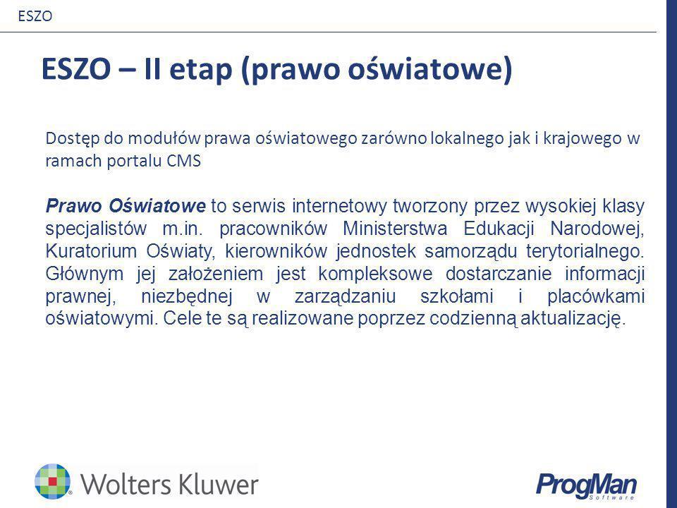 ESZO – II etap (prawo oświatowe)