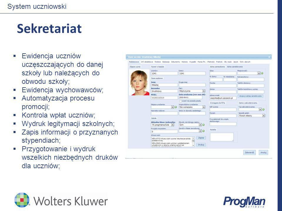 Sekretariat System uczniowski