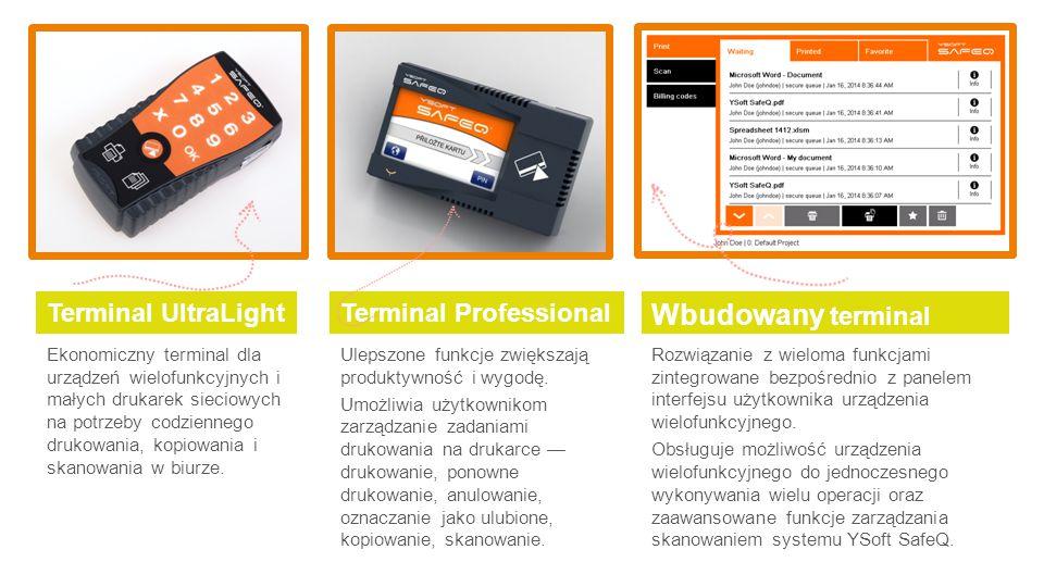 Wbudowany terminal Terminal UltraLight Terminal Professional