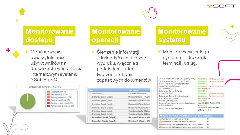 Monitorowanie Monitorowanie Monitorowanie dostępu operacji systemu