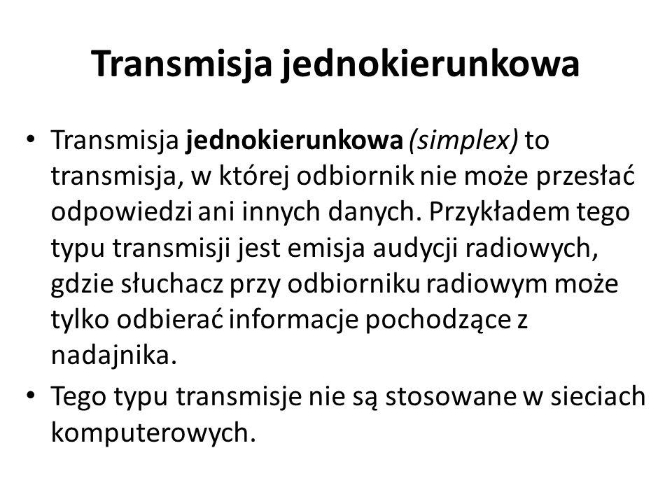 Transmisja jednokierunkowa