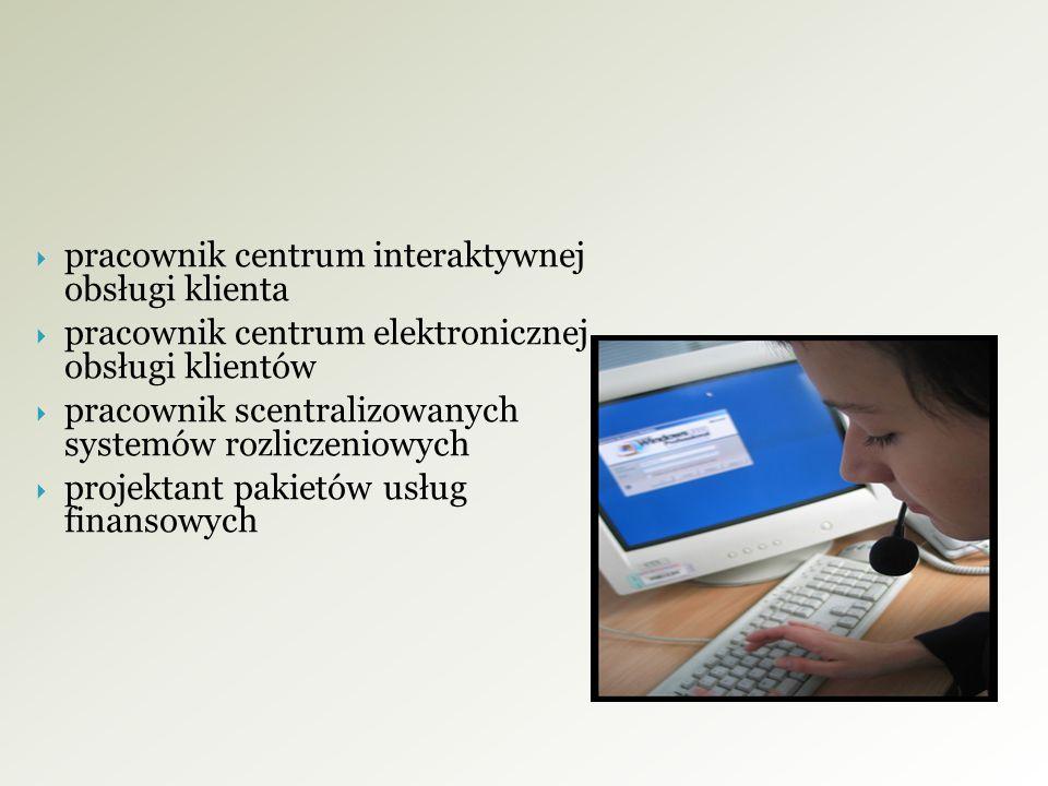 pracownik centrum interaktywnej obsługi klienta