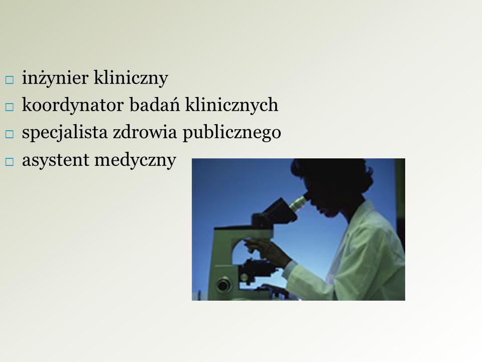 koordynator badań klinicznych specjalista zdrowia publicznego