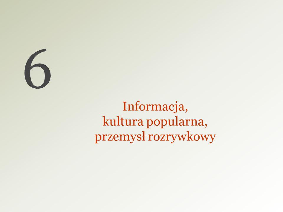 6 Informacja, kultura popularna, przemysł rozrywkowy 27 27