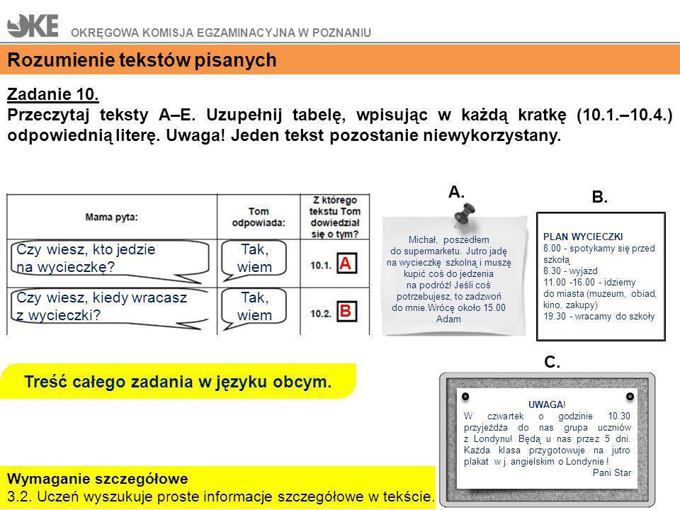 Treść całego zadania w języku obcym.