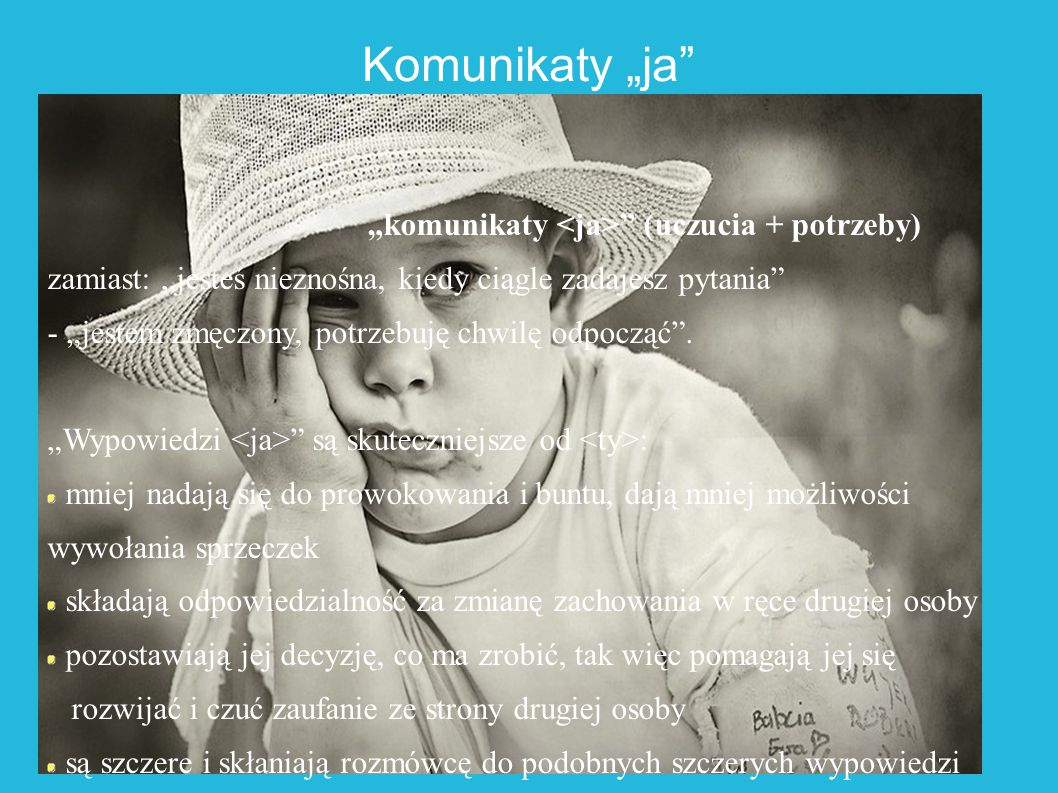 """Komunikaty """"ja """"komunikaty <ja> (uczucia + potrzeby)"""