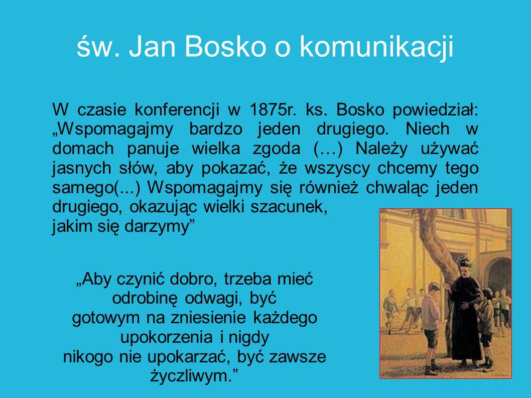 św. Jan Bosko o komunikacji
