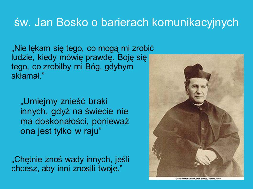 św. Jan Bosko o barierach komunikacyjnych