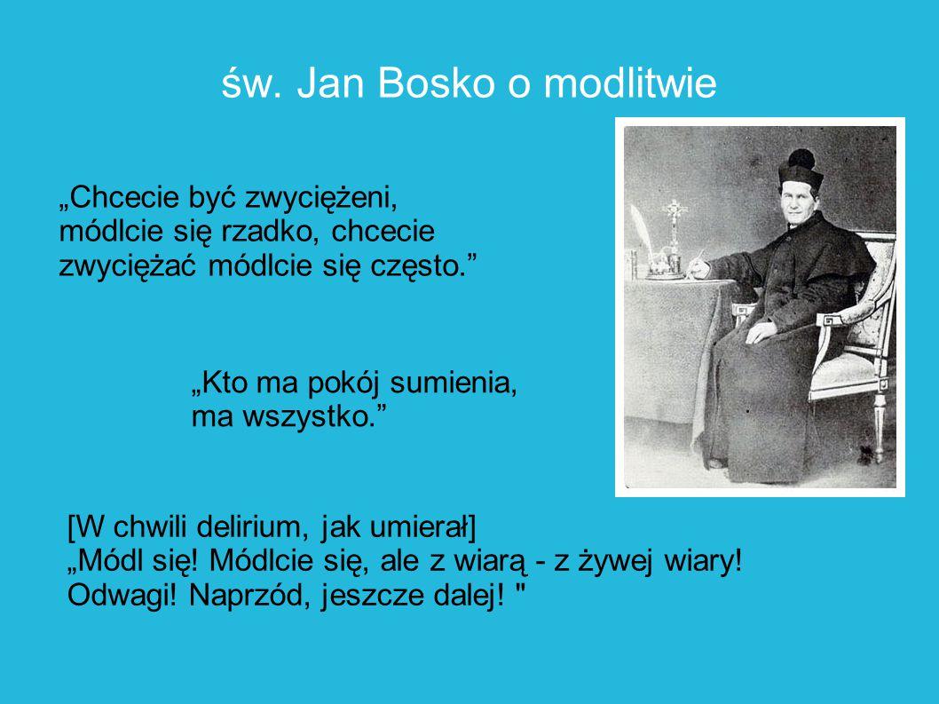 św. Jan Bosko o modlitwie