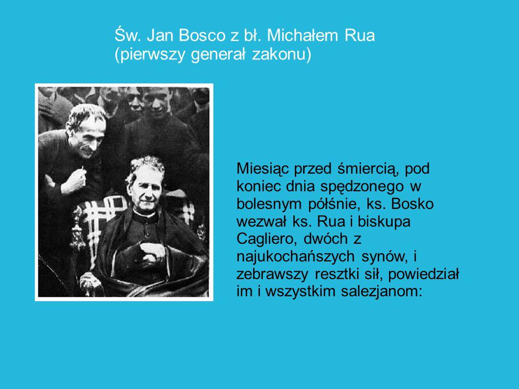 Św. Jan Bosco z bł. Michałem Rua (pierwszy generał zakonu)