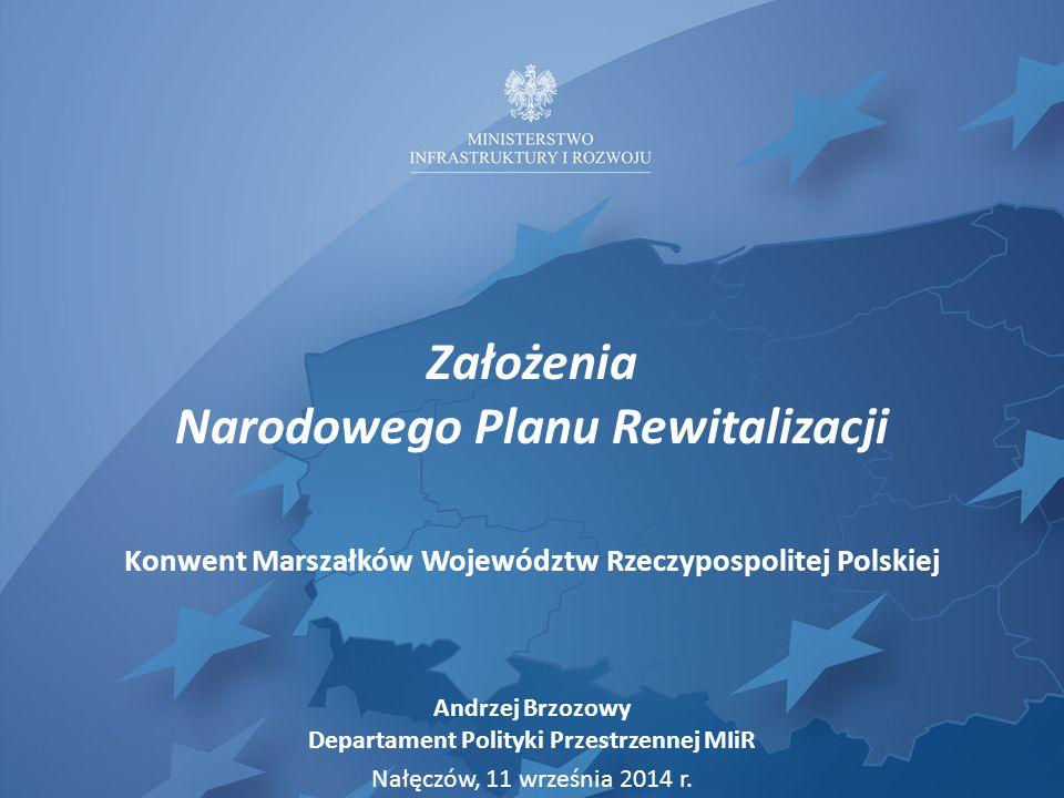 Założenia Narodowego Planu Rewitalizacji