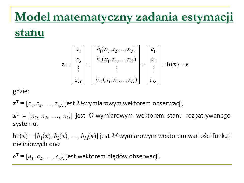 Model matematyczny zadania estymacji stanu