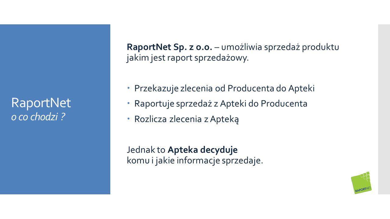 RaportNet Sp. z o.o. – umożliwia sprzedaż produktu jakim jest raport sprzedażowy.