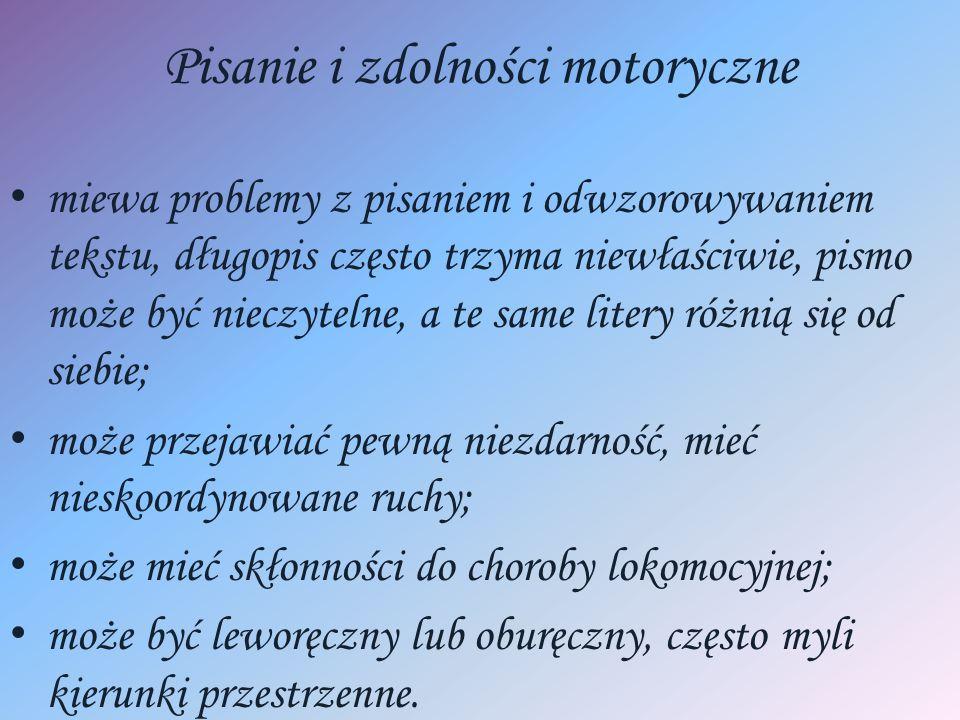 Pisanie i zdolności motoryczne