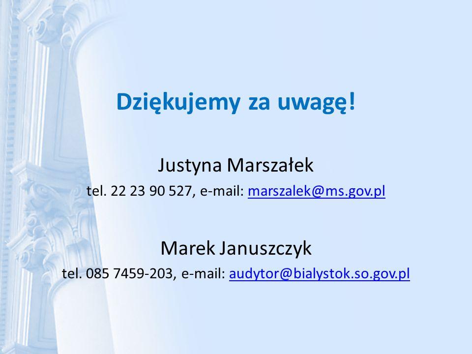 Dziękujemy za uwagę! Justyna Marszałek Marek Januszczyk