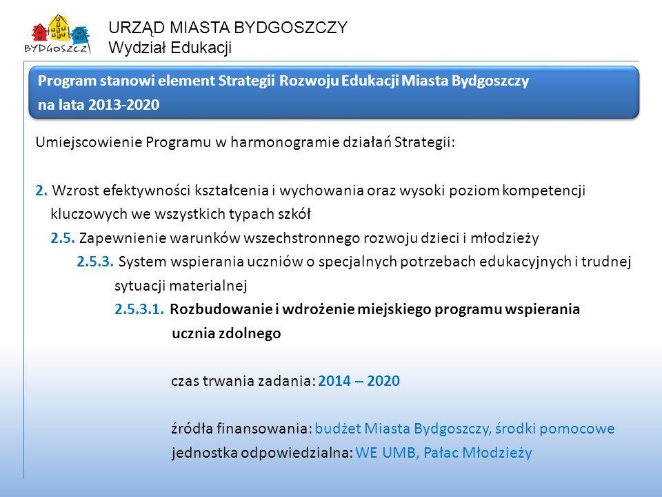 Program stanowi element Strategii Rozwoju Edukacji Miasta Bydgoszczy