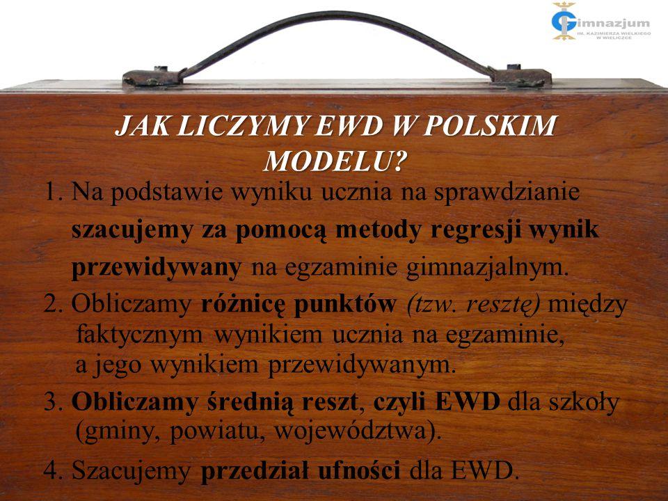 Cele wprowadzenia EWD JAK LICZYMY EWD W POLSKIM MODELU