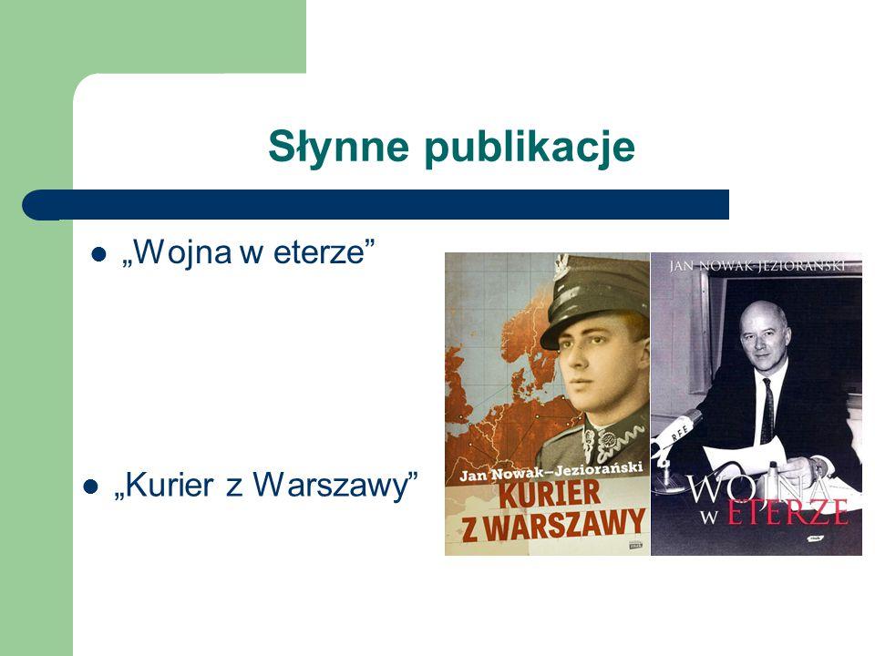 """Słynne publikacje """"Wojna w eterze """"Kurier z Warszawy"""