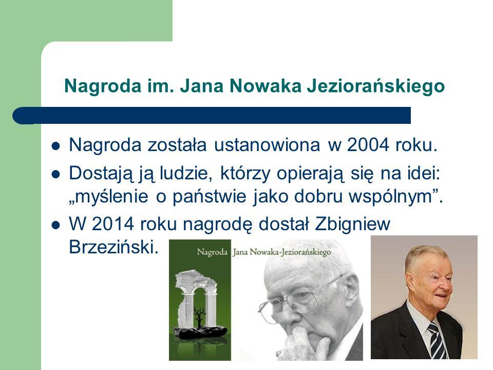 Nagroda im. Jana Nowaka Jeziorańskiego
