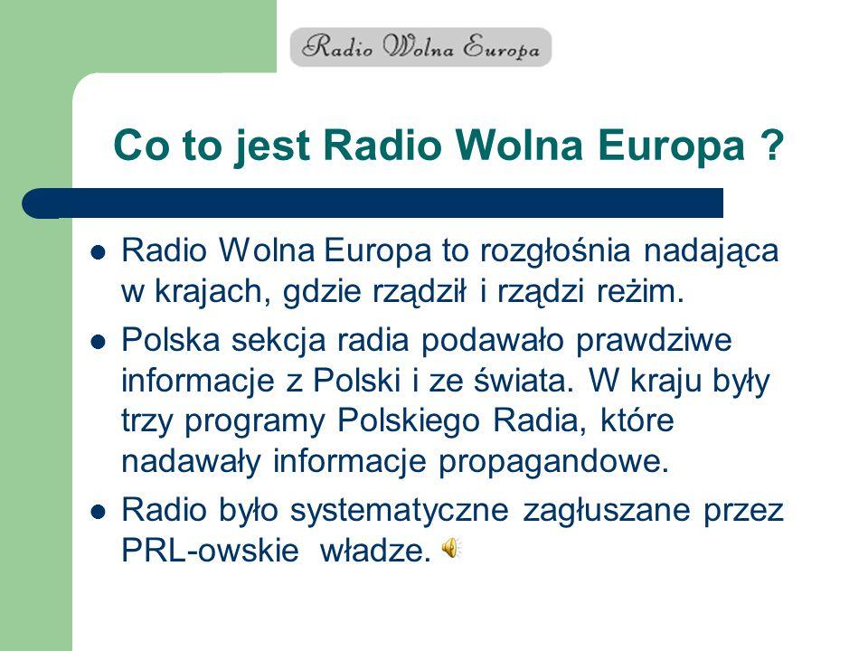 Co to jest Radio Wolna Europa