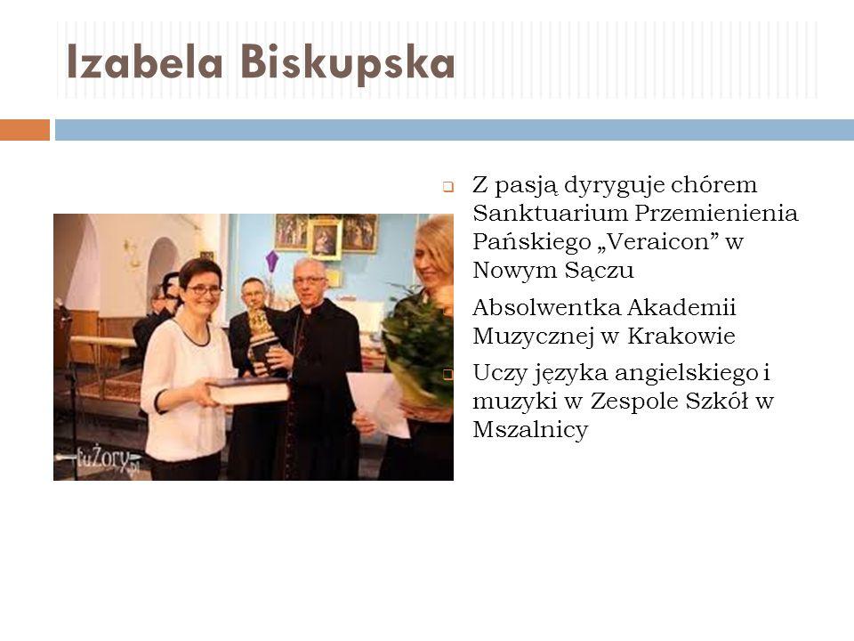 """Izabela Biskupska Z pasją dyryguje chórem Sanktuarium Przemienienia Pańskiego """"Veraicon w Nowym Sączu."""