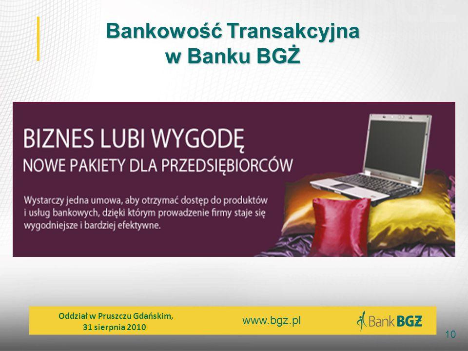 Bankowość Transakcyjna w Banku BGŻ