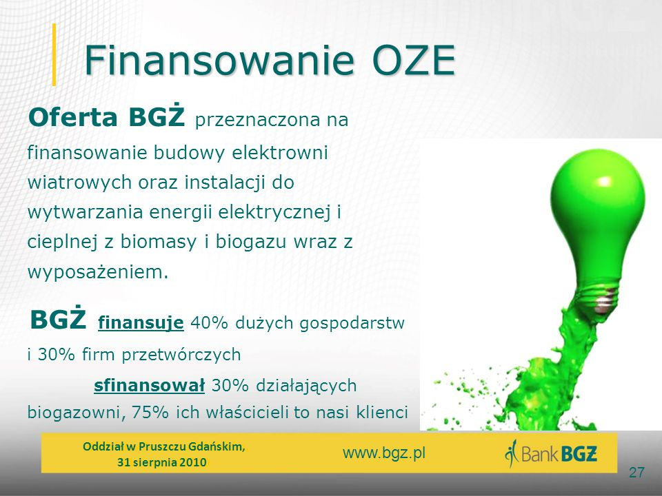 Finansowanie OZE
