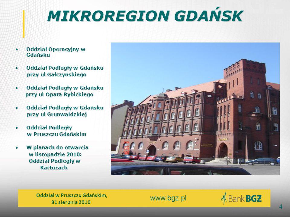 MIKROREGION GDAŃSK Oddział w Pruszczu Gdańskim, 31 sierpnia 2010
