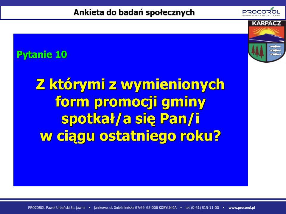 Z którymi z wymienionych form promocji gminy spotkał/a się Pan/i