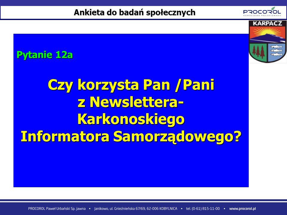 Ankieta do badań społecznych Informatora Samorządowego